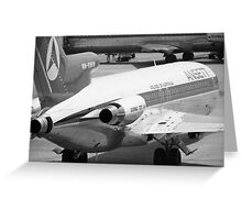 Retro Airline Greeting Card