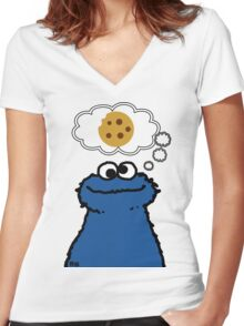 Cookies On My Mind Women's Fitted V-Neck T-Shirt