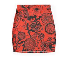 Circles & Squares Aussie Tangle Black on Colour (see artists notes for colour options) Mini Skirt