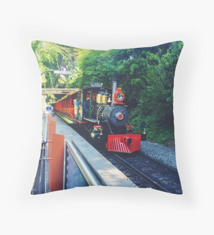 Disneyland railroad  Throw Pillow