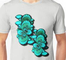Double Floral Fractal Image Unisex T-Shirt