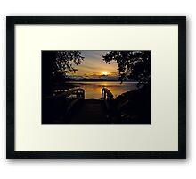 Vancouver Island sunset Framed Print