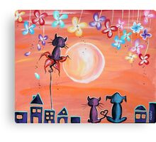 Our Favourite Sunset - For Children Paintings by Valentina Miletic Canvas Print