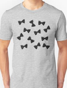 Scattered Bow Ties- Black T-Shirt