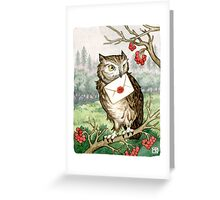 Owl Post Greeting Card