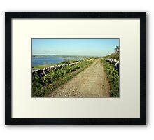 Old Burren Road Framed Print
