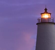 Ocracoke Light at Dawn by Kenneth Keifer