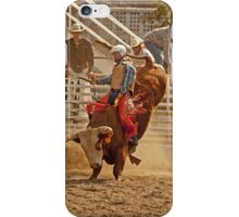 Rodeo Cowboy Riding a Bull iPhone Case/Skin