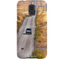 A Country Road in the Foothills Near Coalinga Oil Country Samsung Galaxy Case/Skin