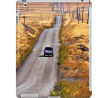 A Country Road in the Foothills Near Coalinga Oil Country iPad Case/Skin