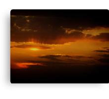 Nebraska Sunset 2 Canvas Print