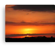 Nebraska Sunset 3 Canvas Print