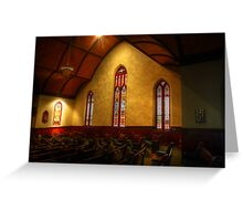 Stain Glass Windows Greeting Card