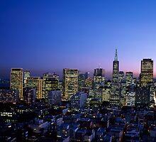 Dusk view of San Francisco, California by Carol M.  Highsmith