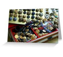 Nautical Buttons and notions Greeting Card