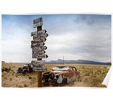 Route 66 in Arizona Desert Poster