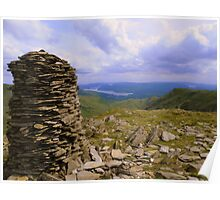 The Lake District: High Bakestones Cairn Poster