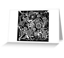 Circles & Squares Aussie Tangle White (see artist notes for colour options) Greeting Card