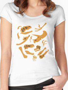 Dinosaur Bones Women's Fitted Scoop T-Shirt