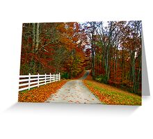 *COUNTRY ROAD* Greeting Card