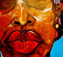 LIP LADY by CustomCanvasART