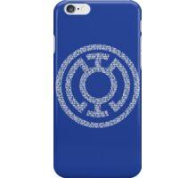 Blue Lantern Oath (White) iPhone Case/Skin