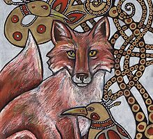 Red Fox, Gold Birds by Lynnette Shelley