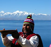 Shaman performing a blessing ceremony.  by vadim19