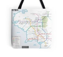 Middle Earth Transit Map Tote Bag