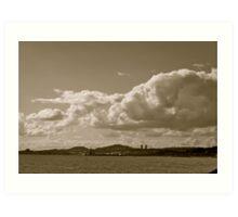Dundee City, Dundee Sky Art Print
