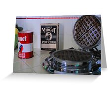 Historic Governor's Mansion kitchen tableau Greeting Card