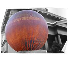The million dollar mansion with big rusty globe fence Poster