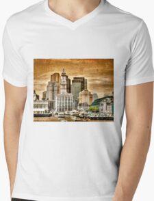 Boston Harbor Mens V-Neck T-Shirt