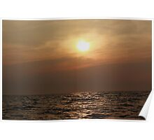 Sunrise Over The Water Poster
