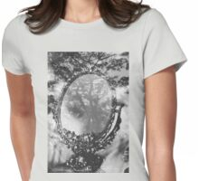 mirror and tree double exposure Womens Fitted T-Shirt