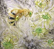 Honeybee - Dreaming Flowers - Blossoms by Stephanie Law