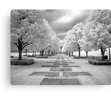 Infrared View of Trees at the Nelson Atkins Museum, Kansas City, Missouri  Canvas Print