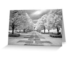 Infrared View of Trees at the Nelson Atkins Museum, Kansas City, Missouri  Greeting Card