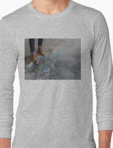 Concrete Rainbow & Boots Long Sleeve T-Shirt