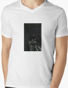BLACK Electronic Underground #20 Mens V-Neck T-Shirt