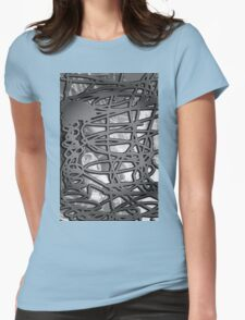 Abstract #6 in Black & White Womens Fitted T-Shirt