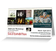 Still Life Workshop banner Greeting Card