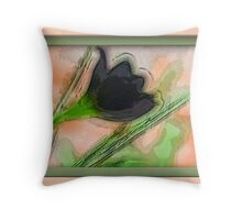 Black Rose Of Death Throw Pillow