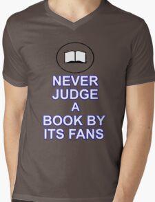 Never Judge A Book Mens V-Neck T-Shirt