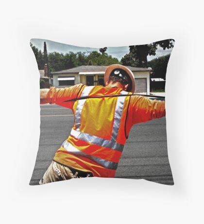 Lineman Throw Pillow