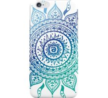 Blue Gradient Mandala  iPhone Case/Skin