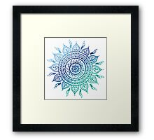 Blue Gradient Mandala  Framed Print
