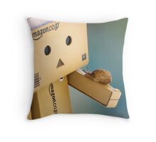 when Danbo meet Gary Throw Pillow