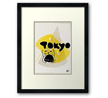 tokyo over yellow Framed Print