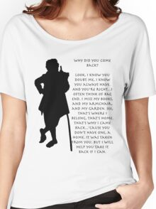 Why did you come back? Women's Relaxed Fit T-Shirt
